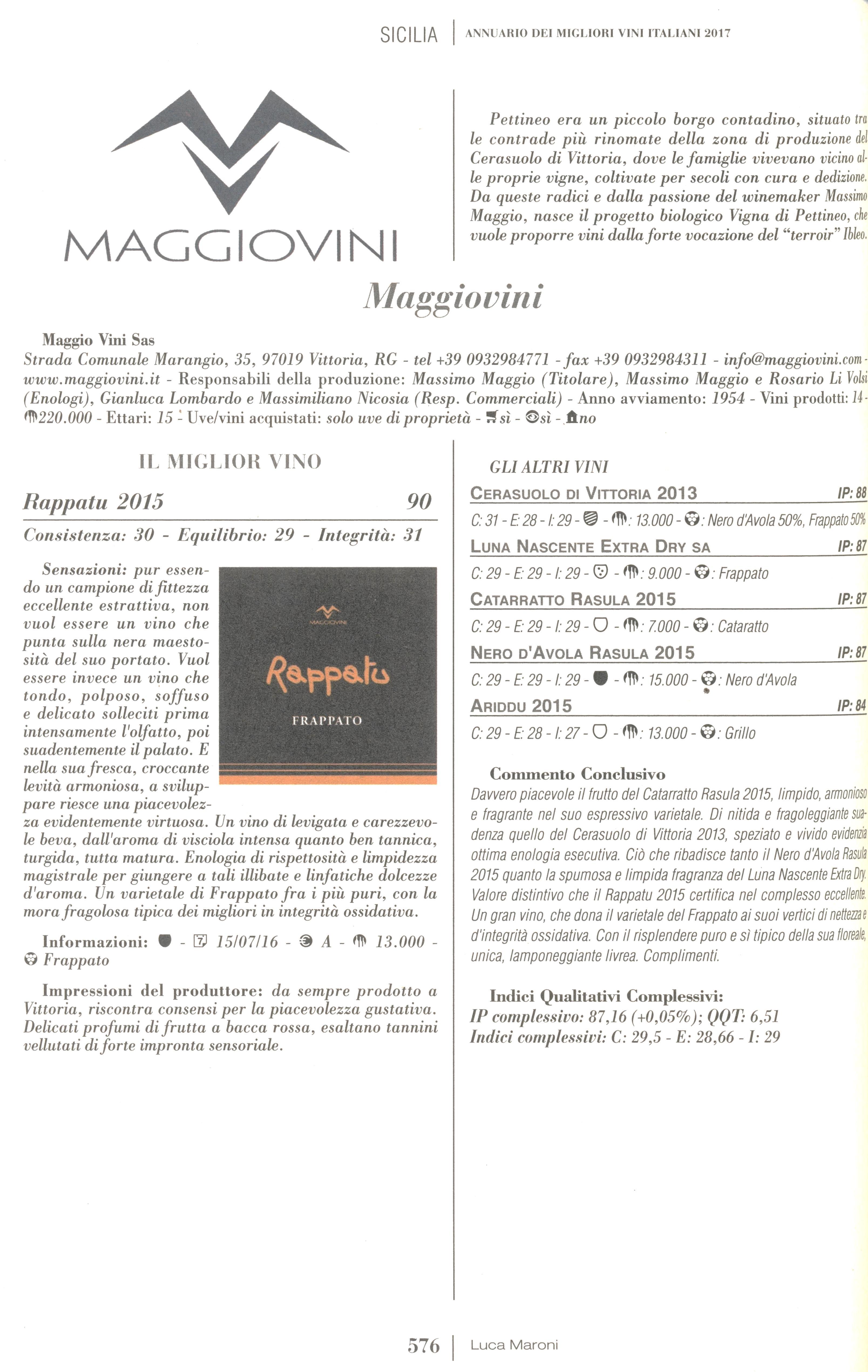 Recensione guida Luca Maroni 2017 - Maggiovini